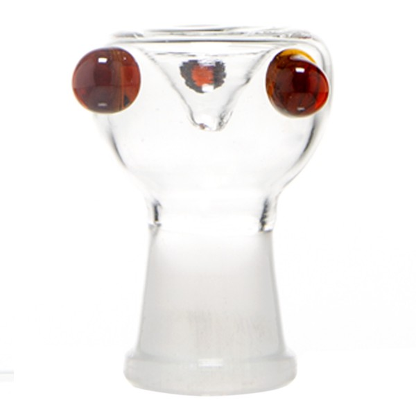 Grace Glass | 3 point Glass Bowl 6cm Height -Umber-SG:18.8mm (Female)