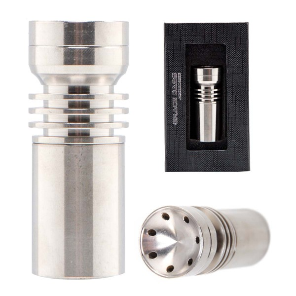 Grace Glass | Titanium big domeless nail with rotating dish- SG: 18.8mm (female)