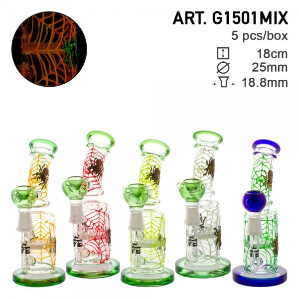 Grace Glass | BUBBLERS SPIDER WEB SERIES | 5 PCS BOX Glow in the Dark