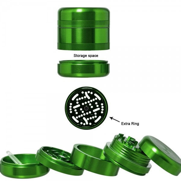Grace Glass | Grinder - American Style - Ø:55mm - 5 parts - With 2 different plates