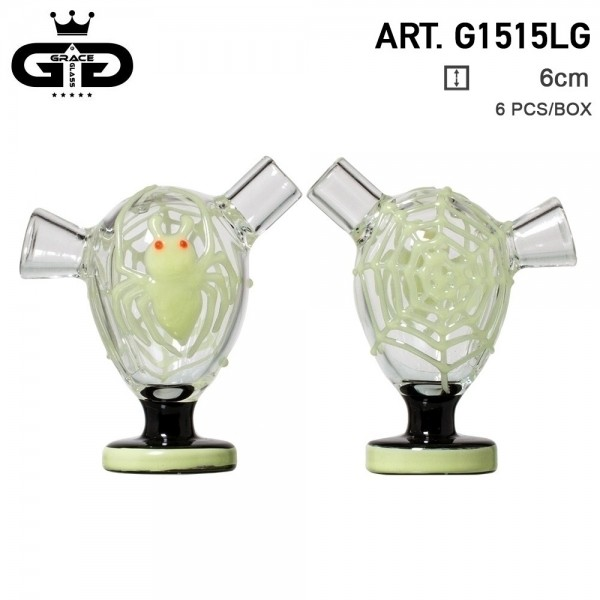 Grace Glass | Little Storm White | 6 pcs in display Glow in the Dark