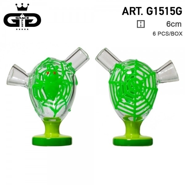 Grace Glass | Little Storm Green | 6 pcs in display Glow in the Dark