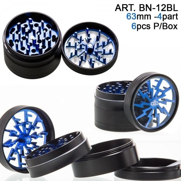 Grace Glass | Lightning - Blue- 4part-Ø:63mm-6pcs/box