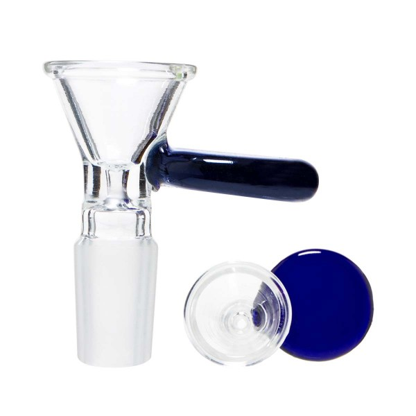 Grace Glass | Glass Bowl with a blue handle - SG:14.5 mm