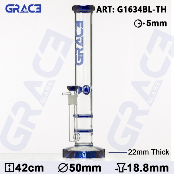 Grace Glass | HAMMER Series | Blue Parallel tubes