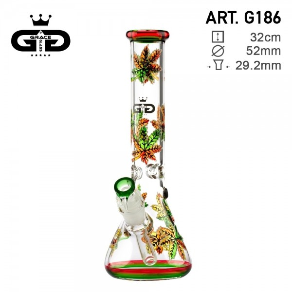 Grace Glass | CRYSTAL Series | Beaker Bong Glow in the Dark