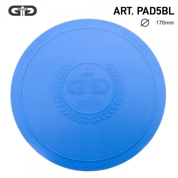 Grace Glass | Small silicon Pad - Underlay for Bongs- BLUE- Ø:170mm-single piece