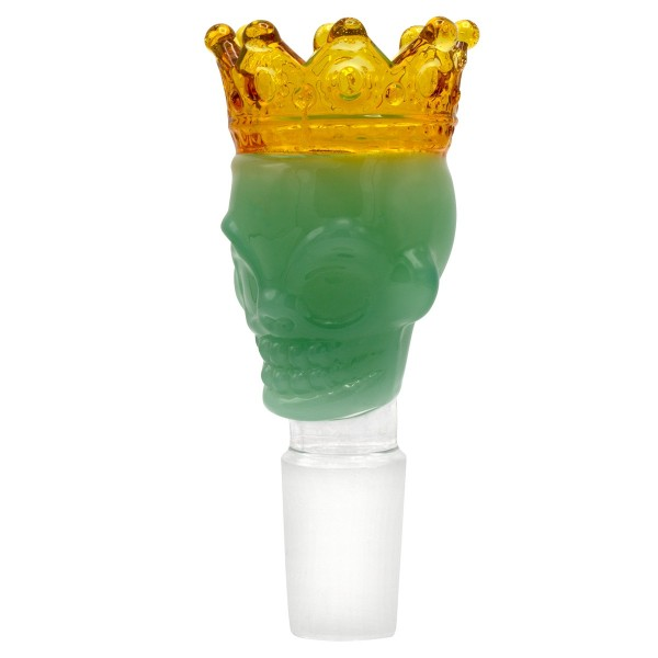 Grace Glass | Skull King Bowl-Green- SG:18.8mm