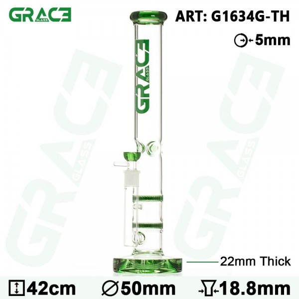 Grace Glass | HAMMER Series | Green Parallel tubes