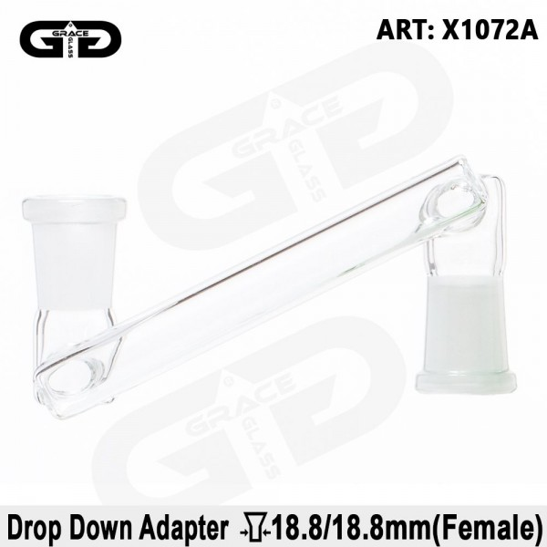 Grace Glass | Short Drop Down Female to Female Adapter SG:18.8mm to SG:18.8mm