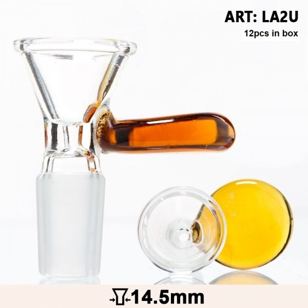 Glass Bowl with an umber handle - SG:14.5mm