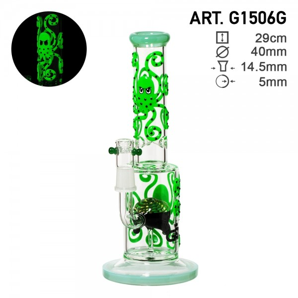 Grace Glass | Octopoda Series | The Psychedelic Green Glow in the Dark