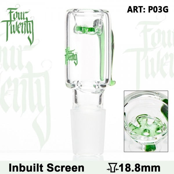 FourTwenty | Bowl - Green - SG:18.8mm - Inside Screen